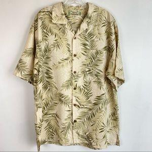 Tommy Bahama 100% Silk Hawaiian Shirt M